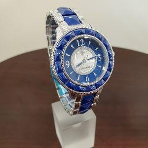 Judith Ripka Blue-Silver Ceramic-SS Watch